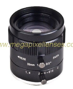 "2/3"" 35mm F1.4 5Megapixel Low-distortion C Mount Lens for Traffic Monitoring"