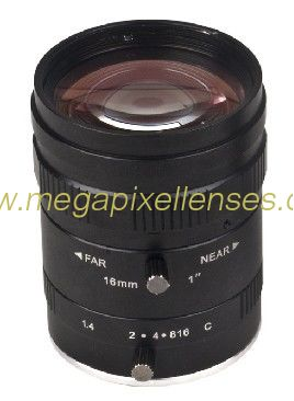 "1"" 16mm F1.4 10Megapixel Low-distortion C Mount Lens for Traffic Monitoring"