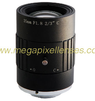 "2/3"" 35mm F1.8 8Megapixel Non-distortion C-mount Lens for Traffic Monitoring"