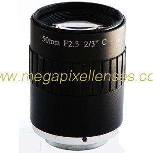 "2/3"" 50mm F2.3 5Megapixel Manual IRIS Low Distortion C Mount ITS Lens, 50mm Traffic Monitoring Lens"