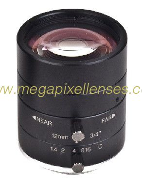 "3/4"" 12mm F1.4 5Megapixel Low-distortion C Mount Lens for ITS Traffic Monitoring"
