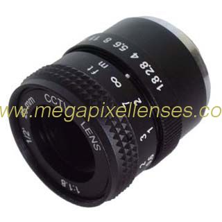 "1/2"" 25mm F1.8 Manual Iris Fixed Focal CCTV Lens, mono-focal CS-mount lens"