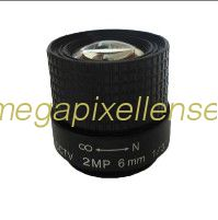 "1/3"" 6mm F1.2 2Megapixel CS-mount Manual IRIS CCTV Lens 130612CS-2MP"