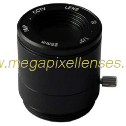 "1/2"" 25mm F2.4 5Megapixel CS-mount IR CCTV Lens 122524IRCS-5MP"