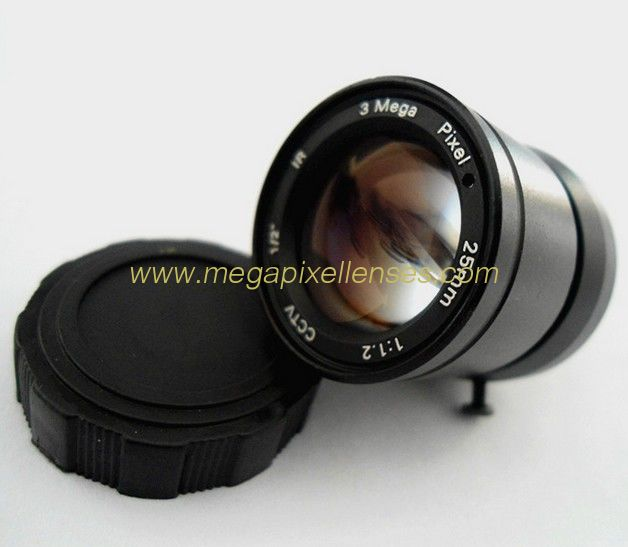 "1/3"" 25mm F1.2 3Megapixel CS-mount Manual IRIS CCTV Lens"