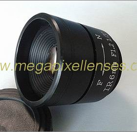 "1/3"" 6.0mm F1.2 Megapixel CS-mounted Manual IRIS CCTV Lens"