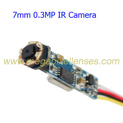 "Super mini IR camera module for endoscope, 7mm wide, 1/5"" CMOS, 420TVL, DC3.5V~6V"