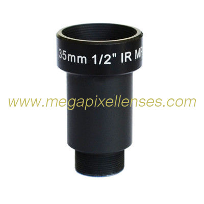 "1/2"" 35mm 5Megapixel F2.5 S Mount M12x0.5 mount Non-Distortion IR Board Lens, 35mm lens"