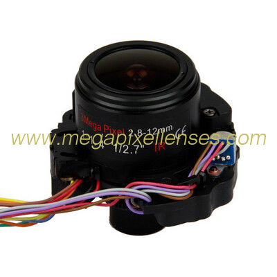 "1/2.7"" 2.8-12mm F1.8 3Megapixel Φ14 Mount Motorized ZOOM Vari-focal IR-CUT Lens"