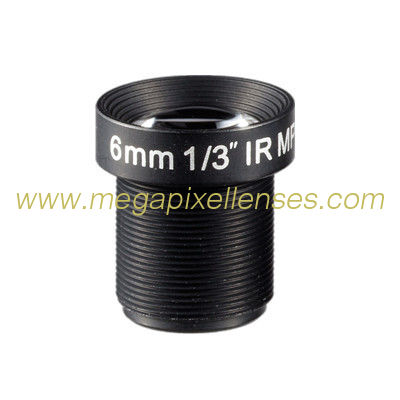 "1/3"" 6mm F2.0 3Megapixel S mount M12x0.5 Mount Non-Distortion IR Board Lens, 6mm MTV lens"