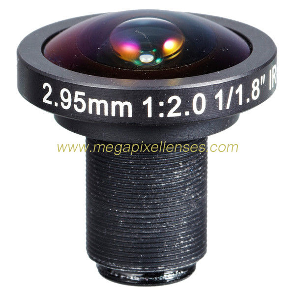 "1/1.8"" 2.95mm F2.0 5Megapixel M12x0.5/CS mount 178degree wide-angle lens panoramic lens"