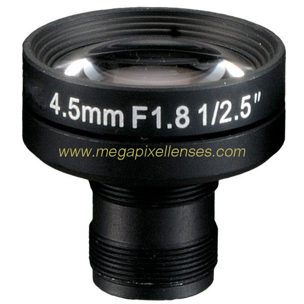 "1/2.5"" 4.5mm 2Megapixel F1.8 M12x0.5 Mount Non-Distortion IR Board Lens"