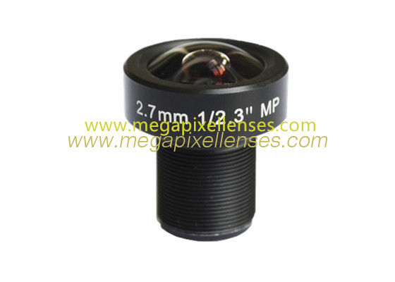 "1/2.3"" 2.7mm 12Megapixel M12x0.5 Mount Low-Distortion Wide-Angle IR Board Lens for IMX117/IMX206"