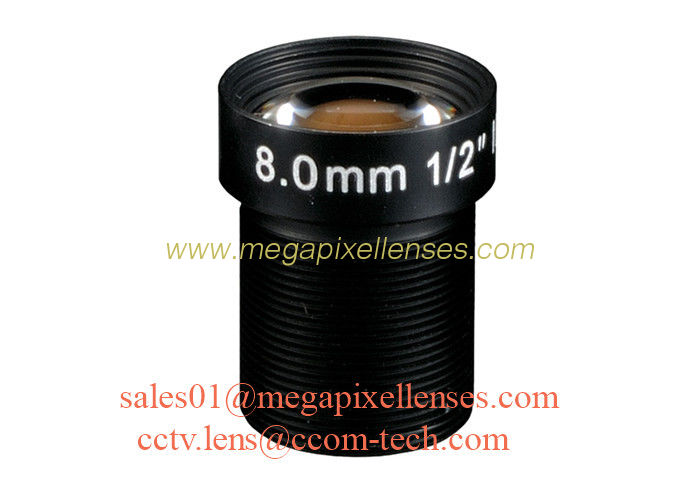 "1/2"" 8mm F1.6 2Megapixel M12x0.5 mount IR board lens, 8mm MTV lens for security camera"