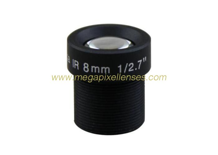 "1/2.7"" 8mm F2.0 3Megapixel M12x0.5 mount Low distortion MTV IR board lens for security camera"