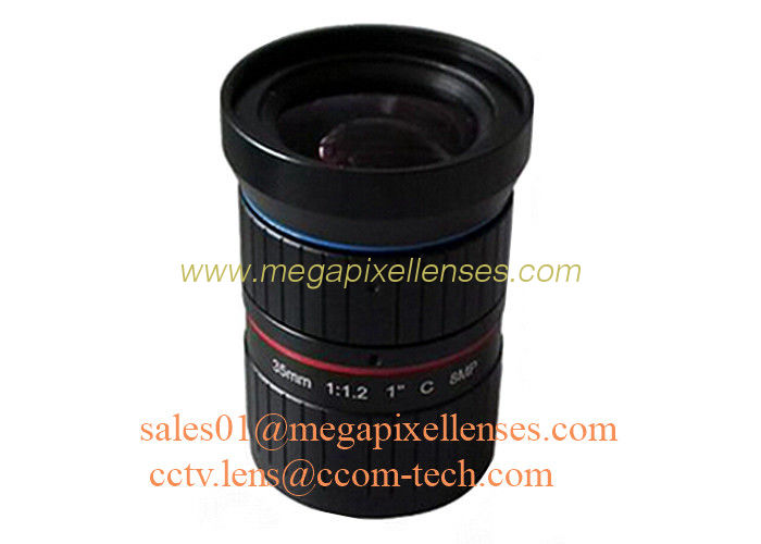 "1"" 35mm F1.2 8Megapixel C Mount Manual IRIS Low Distortion ITS Lens, 35mm Traffic Monitoring Lens"