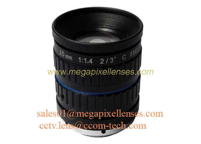 "2/3"" 25mm F1.4 5Megapixel Manual IRIS Low Distortion C Mount ITS Lens, 25mm Traffic Monitoring Lens"