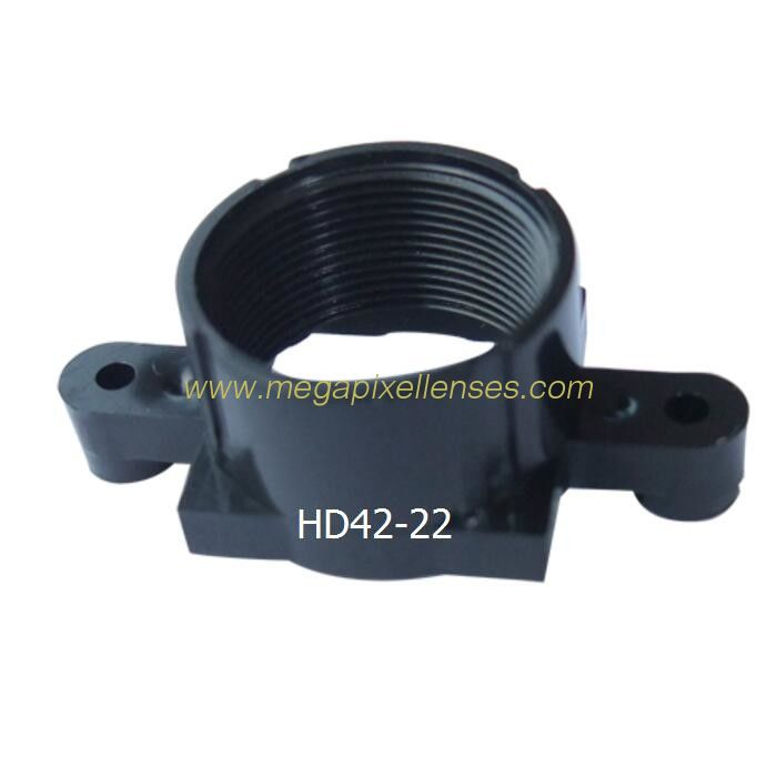 Plastic M12x0.5 mount Lens Holder, 22mm fixed pitch holder for board lenses, height 13.5mm