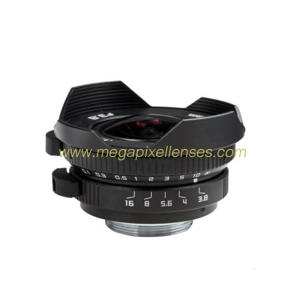 Macro 4/3 8mm F3.8~F16 C mount Wide Angle Fisheye Lens, Macro 4/3 8mm C mount Mirrorless Camera Lens