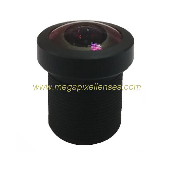 1.3mm 8Megapixe M12x0.5 Mount 185degree Fisheye Lens for Image format Φ3.85mm sensors