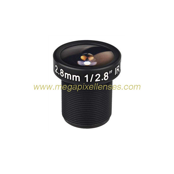 "1/2.8"" 2.8mm F2.0 4Megapixel M12x0.5 Mount 142degree Wide Angle Lens for AR0237/OV4689"